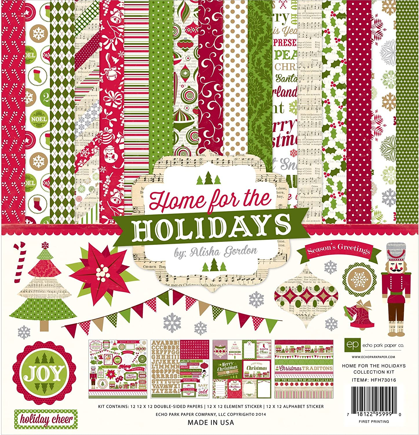 Echo Park Paper Company Home for The Holidays Collection Kit