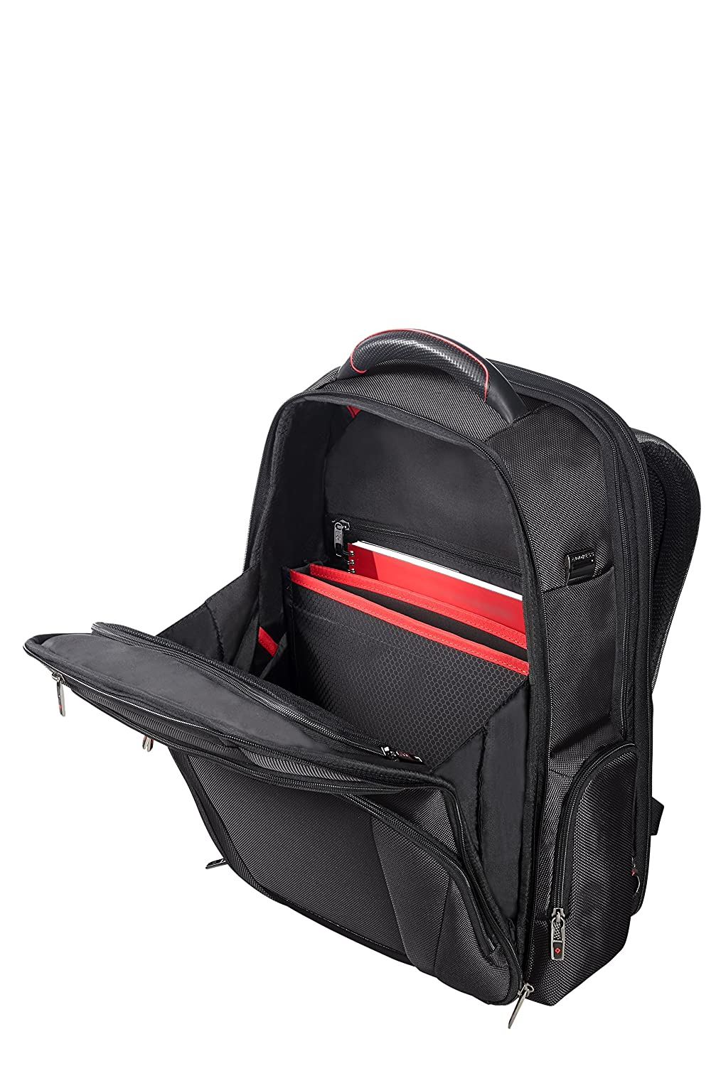beea563359e60 Black 29 liters SAMSONITE PRO-DLX 5 Backpack Expandable for 17.3 Laptop  29 34L 1.7 KG Casual Daypack 48 cm