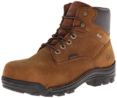 Wolverine Men's Durbin Waterproof Steel- Toe Brown Boots, 7 D(M) US