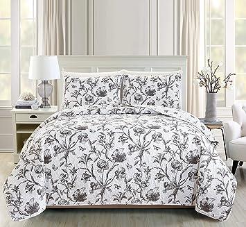 Amazon.com: Great Bay Home - Juego de cama de 3 piezas con ...
