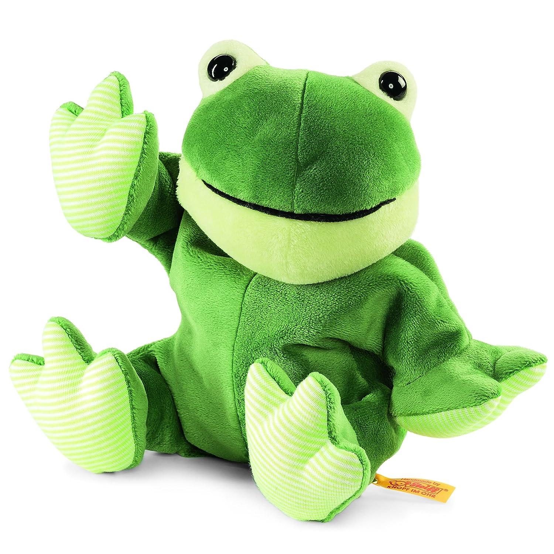 Steiff 239120 - Cappy Frosch 22 Wärmekissen, Plüschtier, 22 Frosch cm, grün 6e12d9