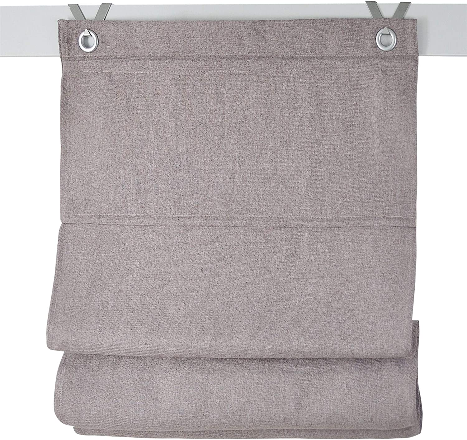 Kutti Dimout Blackout roman blind with grommets and hooks cream 60 x 130 cm