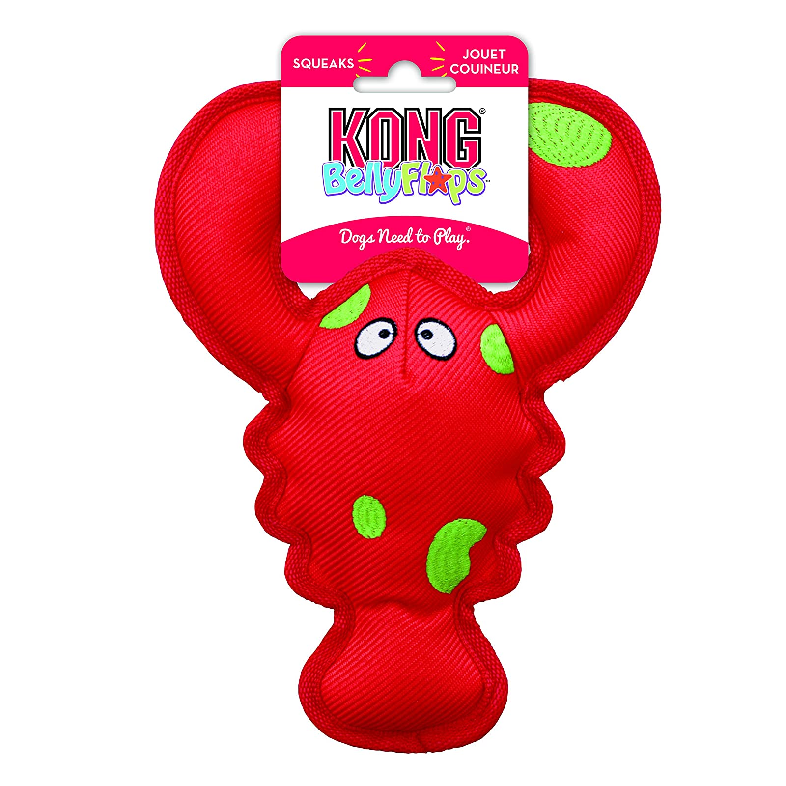KONG Belly Flops Lobster Dog Toy RBF1 - 2