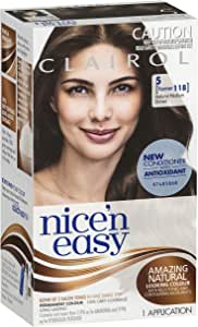 Clairol Nice 'N Easy, 5 Natural Medium Brown, 1 Application