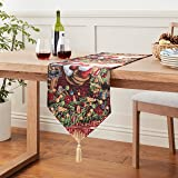 Violet Linen Decorative Christmas Tapestry Table