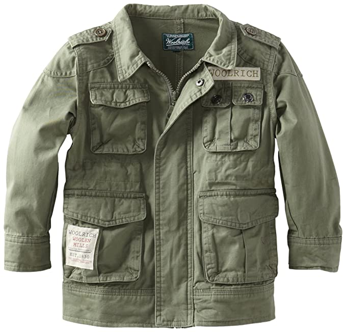 Amazon.com: Woolrich Little Boys Ejército chamarra: Clothing