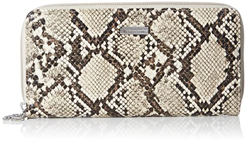 Tamaris DEBRA Big Zip Around Wallet Geldbörse Pepper Beige Braun Neu