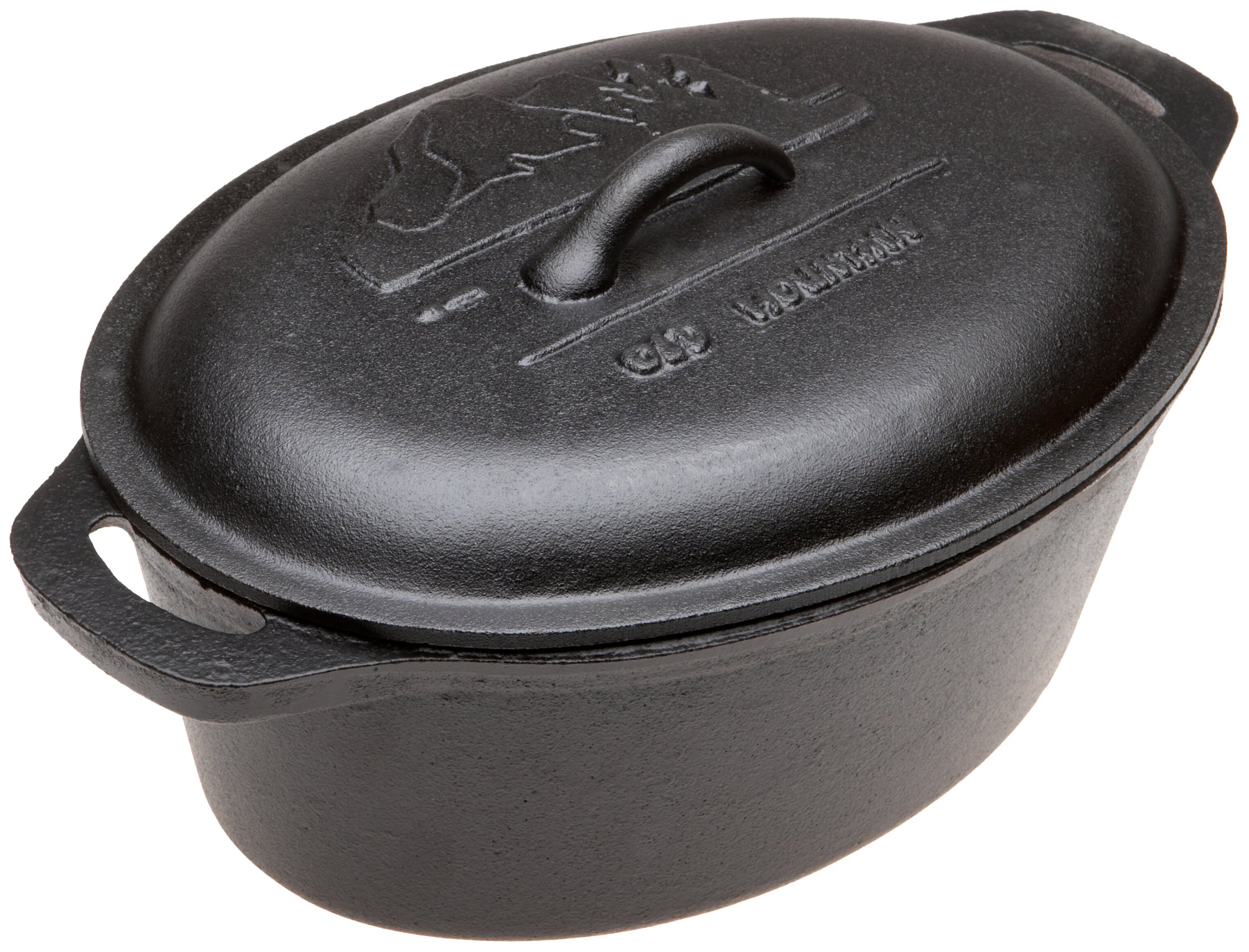 Old Mountain Pre Seasoned 10118 4 Quart Casserole with Dome Lid and Two End Handles