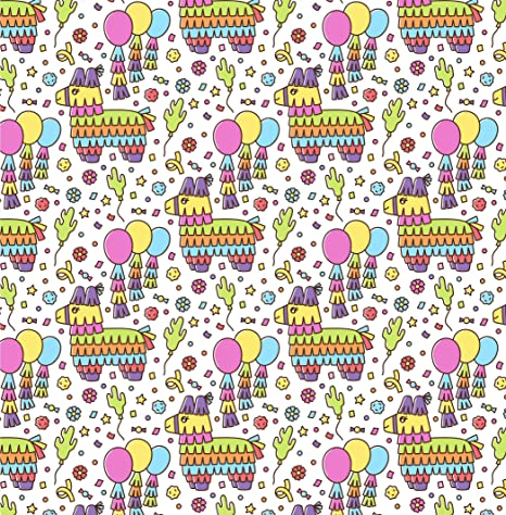 Starry Holiday Baby Shower.70 x 50cm//27.5x19.6 inch per Sheet. Party PTN Gift Wrapping 6 SheetsPaper Zoo,Flamingo Pattern for Birthday Peacock Dinosaur