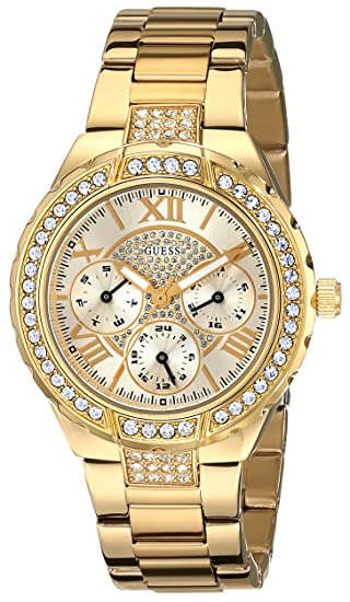 Amazon.com: GUESS Womens U0111L2 Sparkling Hi-Energy Mid-Size Gold-Tone Watch: Guess: Watches