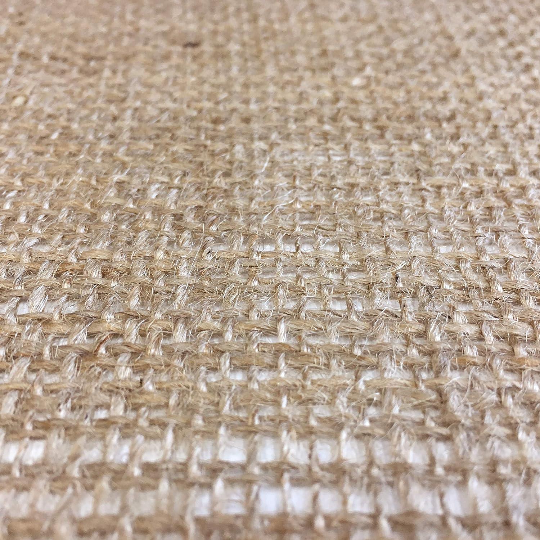 Panini Tessuti Juta Tessuto in Fibra Naturale Ritagli da 2-5 10 mt x 1,40 mt di Altezza
