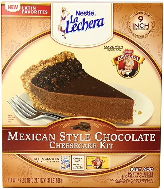Amazon.com : La Lechera Mexican Style Cheesecake Kit, Chocolate, 21.1 Ounce (Pack of 6) : Cake Mixes : Grocery & Gourmet Food