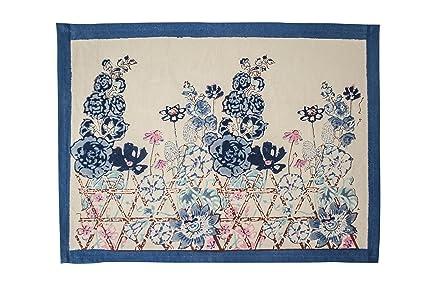 Amazon Com Couleur Nature Fleur Sauvage Placemats Set Of 6 Blue