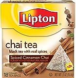 Lipton  Chai Tea Pyramids, Spiced Cinnamon 18 ct