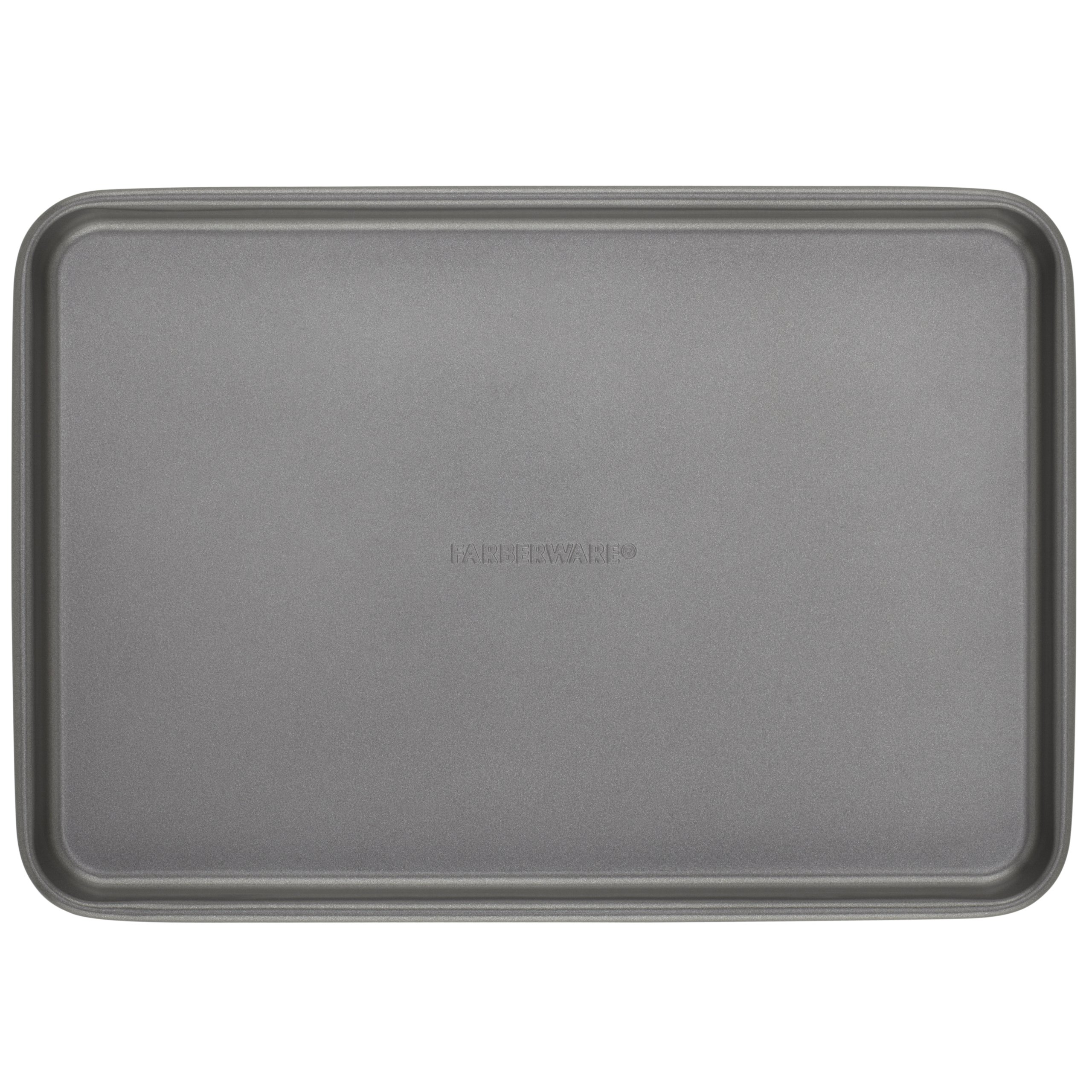 Farberware Nonstick Bakeware 11-Inch x 15-Inch Roaster with Flat Rack, Gray by Farberware (Image #2)