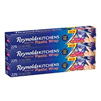3-Pack Reynolds Kitchens Plastic Wrap (225 Square Foot Roll)