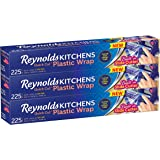 Reynolds Kitchens Plastic Wrap (225 Square Foot Roll, Pack of 3)