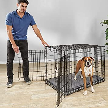 Amazon You Me Ultra Tough 2 Door Folding Dog Crate 43l X