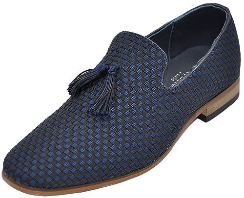Galax - Mocasines de Material Sintético Hombre, azul (azul), 43 EU: Amazon.es: Zapatos y complementos