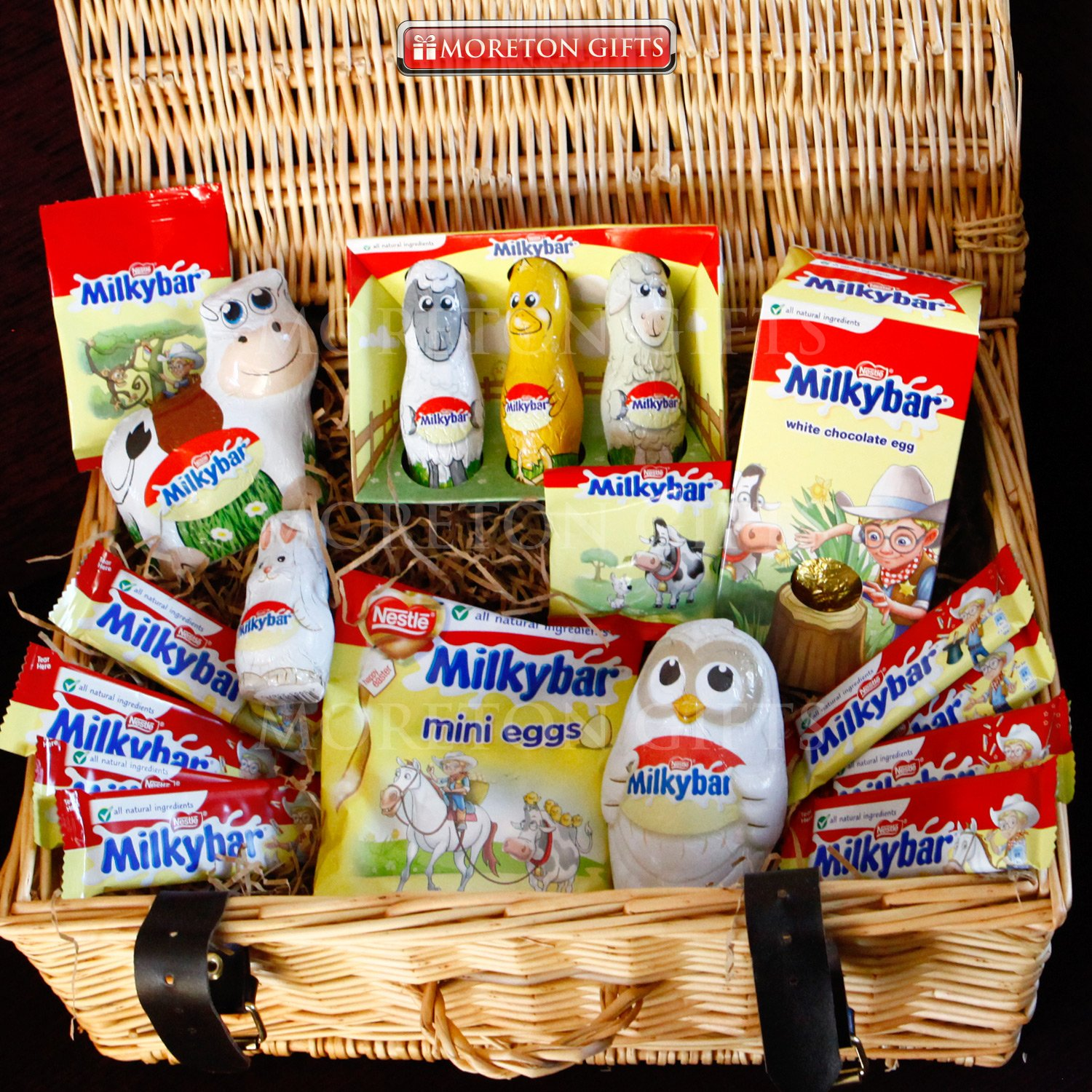 Milkybar chocolate luxury easter hamper by moreton gifts milkybar chocolate luxury easter hamper by moreton gifts easter present easter eggs bunny cow owl friends buttons and bars amazon grocery negle Image collections