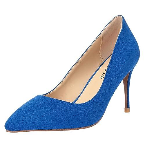 y de Zapatos Cerrado es Pulgadas Classic de de Zapatos Mujer complementos MAYPIE Sexy de tacón 3 Amazon salón Medio FTqrFH