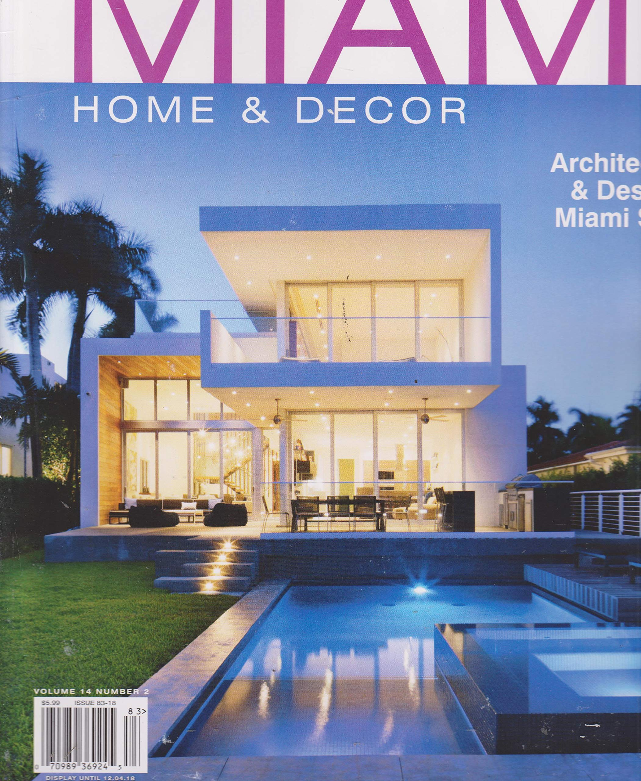 Florida Designs Miami Home Decor Magazine Summer Fall 2018 Volume 14 Number 2 Single Issue