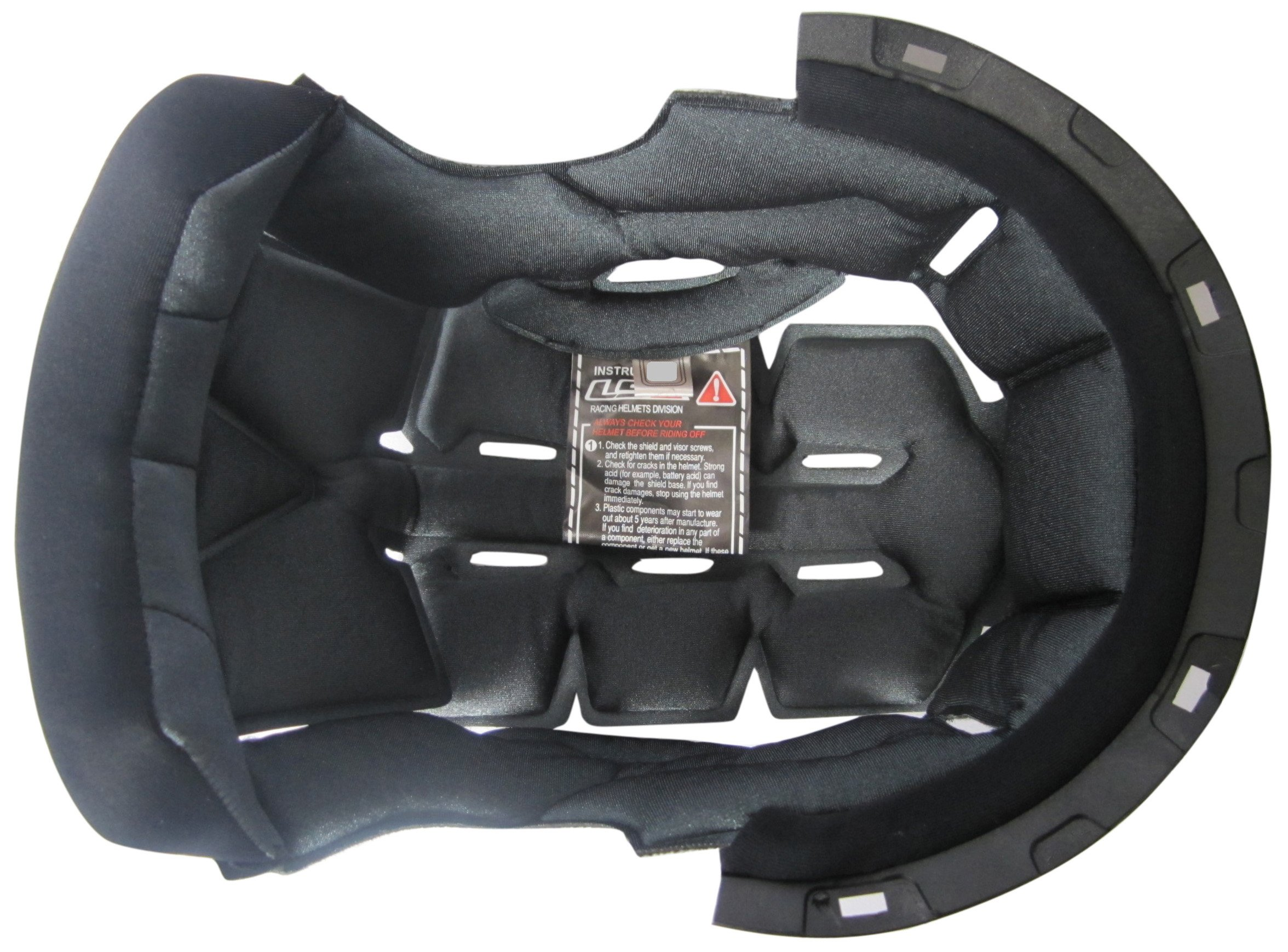 LS2 Helmets Liner for FF386 Helmets (Black, Medium)