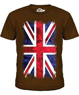 f5564885d9eb Candymix Great Britain Union Jack Grunge Flag Unisex Kids T Shirt  Boys/Girls/Toddler…