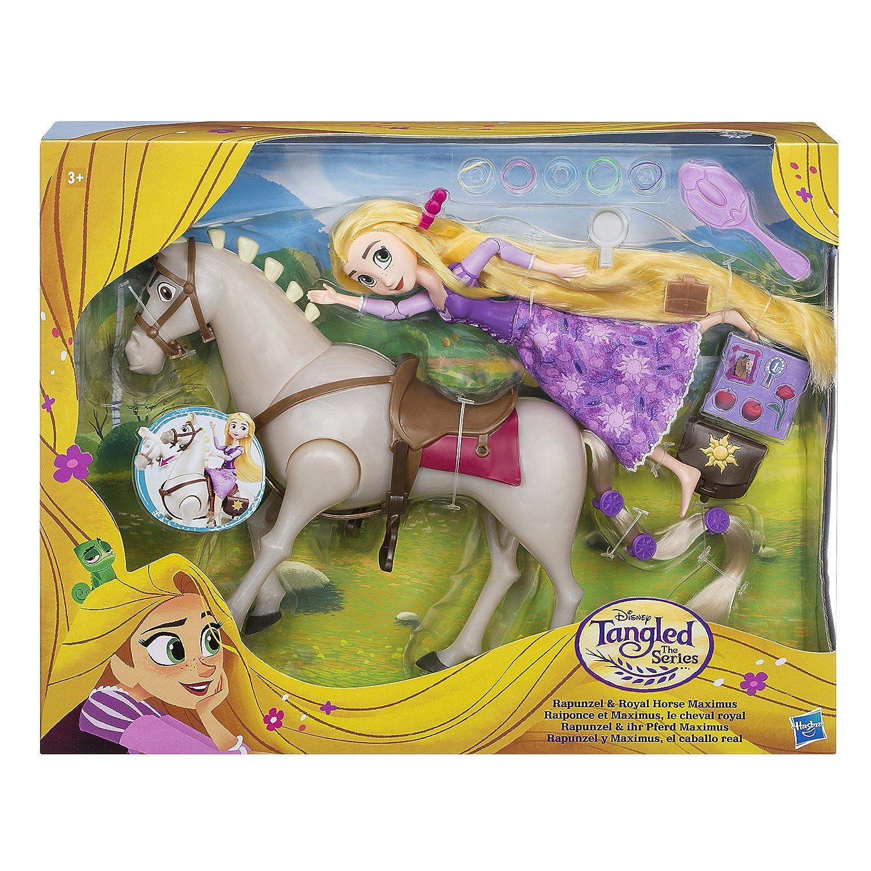 Disney Raiponce - Poupée Pack Raiponce et Cheval Maximus Multicolore ...