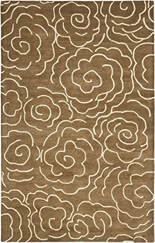 Safavieh Soho Collection SOH812C Handmade Brown and Ivory Premium Wool Area Rug 3'6″ x 5'6″