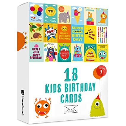 Fantastic 18 X Kids Birthday Cards By Milton Daniel Large Multipack With Funny Birthday Cards Online Alyptdamsfinfo