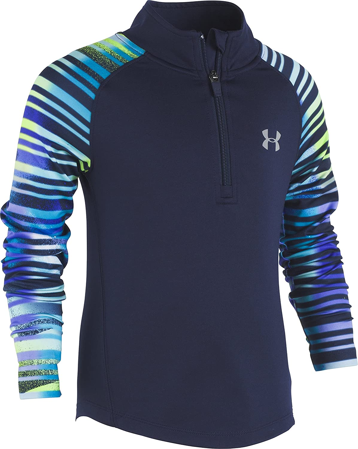 Under Armour Girls' Stripy 1/4 Zip Sweater