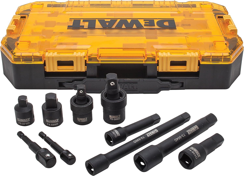 23-Piece DEWALT Impact Socket Set 1//2 Drive Metric//SAE DWMT74739