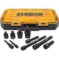 """DEWALT Conjunto adaptador de soquete de chave de impacto, chave métrica de 10 peças de 3/8"""" e 1/2"""" (DWMT74741)"""