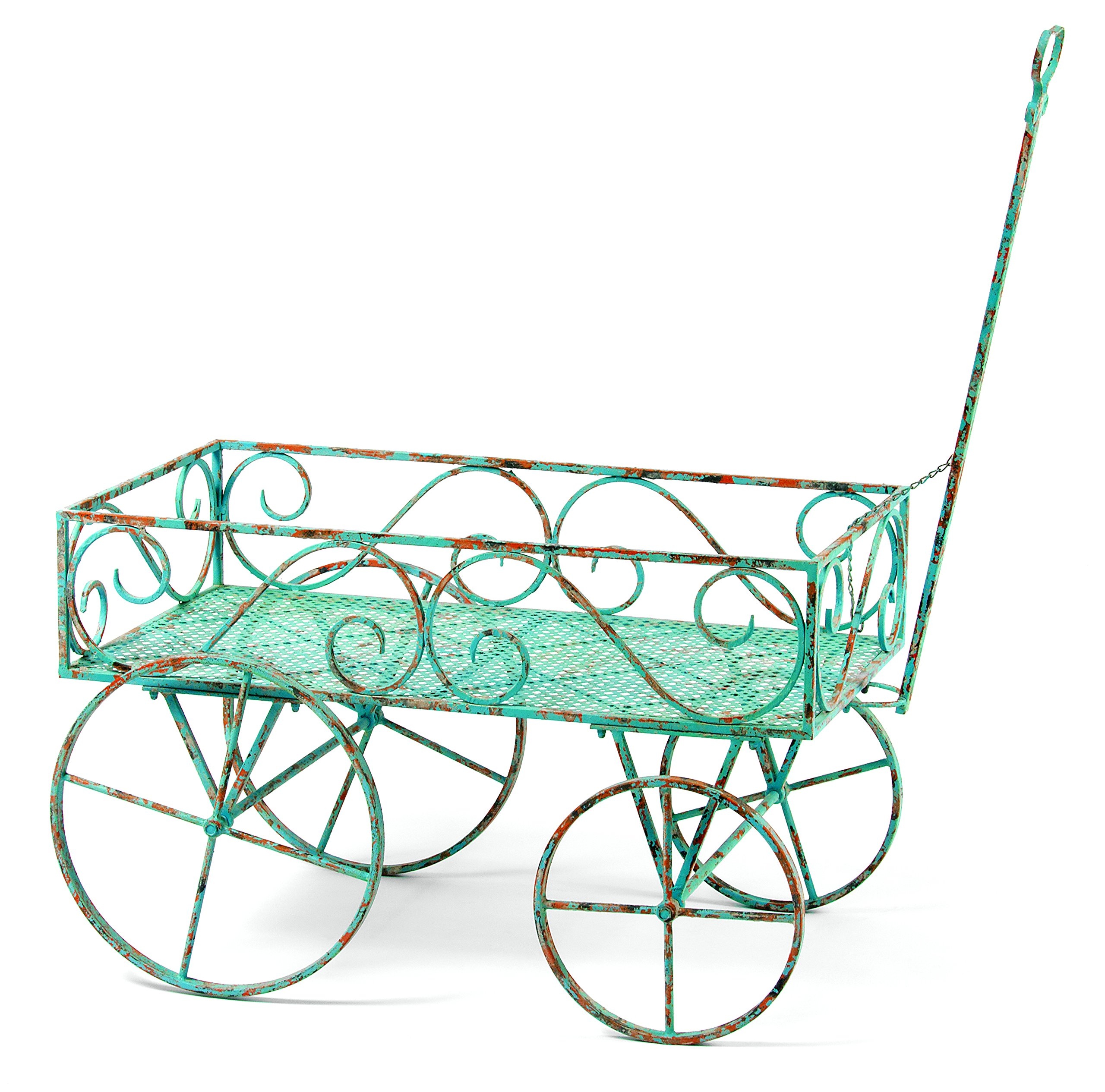 Deer Park Ironworks TC103-BLU Garden Wagon, Large, Light Blue by Deer Park Ironworks