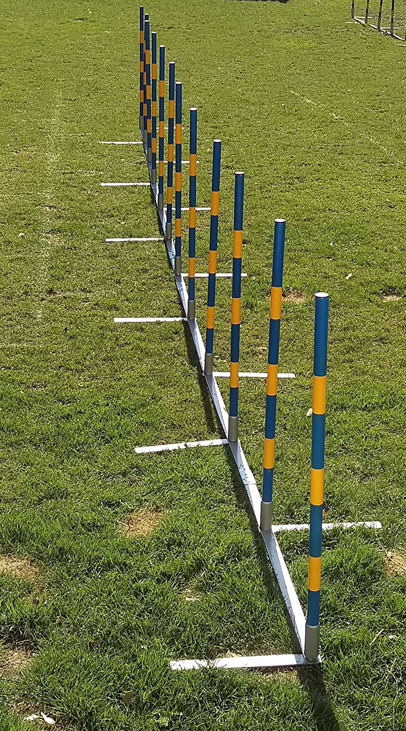 Introductory offer  dog agility weave poles 12X60cm straight weaves for training and kennel club competition
