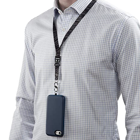 Amazon.com: Hitch Phone Anchor + Lanyard - Black: Cell Phones & Accessories