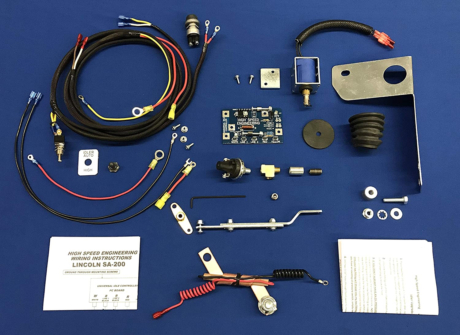 100% USA Low Idle Upgrade Kit Fits Lincoln SA 200 250 Gas W ... R Vacuum Idler Wiring Diagram on