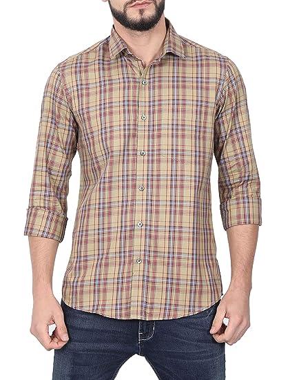 e4e05c37ad20 McHenry Mens 100% Cotton Regular Fit Beige Casual Wear