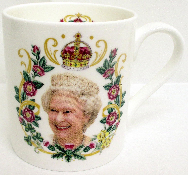 HRH Queen Elizabeth II 90th Birthday Bone China Mug Collectors Commemorative Mug: Amazon.co.uk: Kitchen & Home