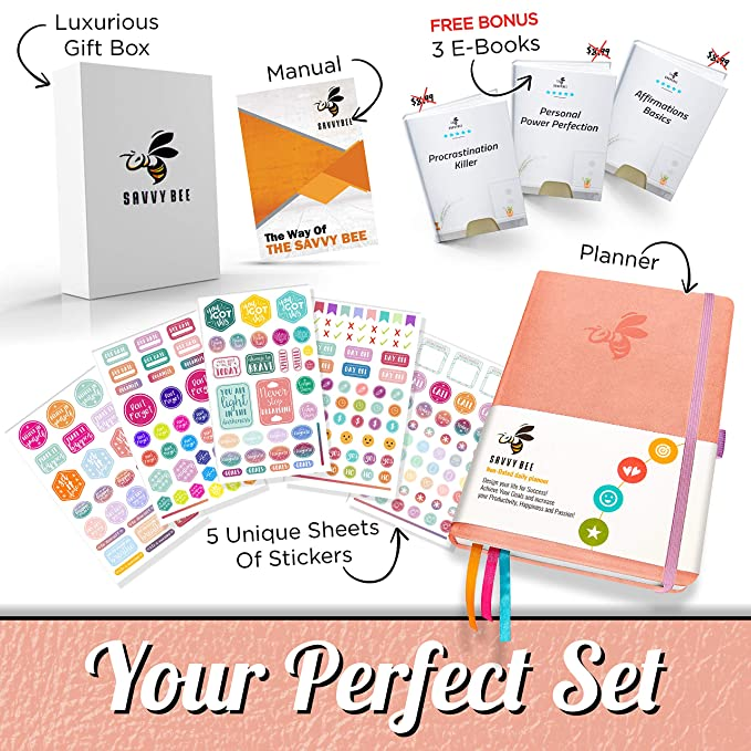 Amazon.com: Savvy Bee Journal - Mejor planificador diario y ...