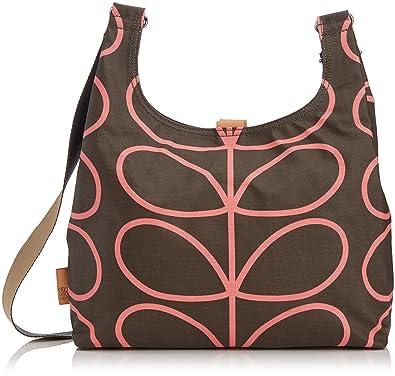 f7698e7c93 Orla Kiely Womens Linear Stem Midi Sling Shoulder Bag Nutmeg  Amazon ...