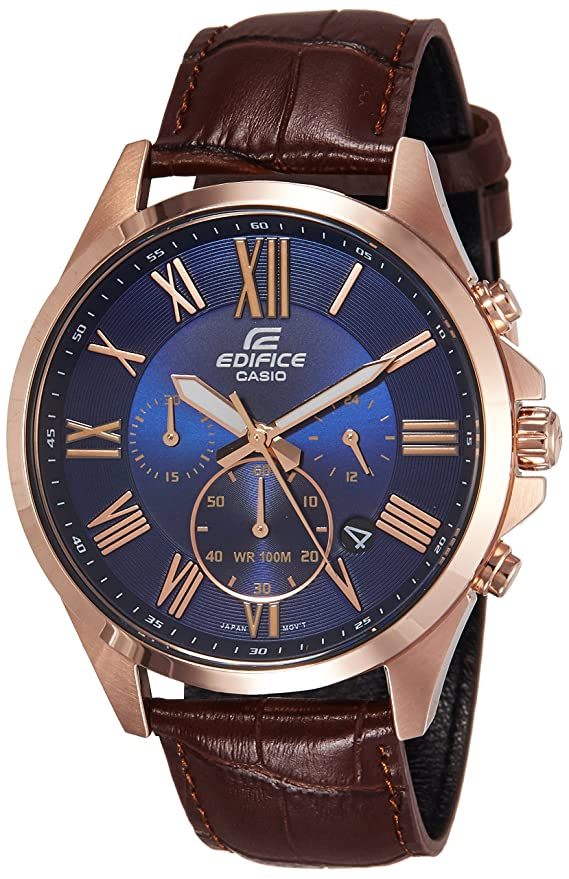 Casio Edifice Analog Blue Dial Men's Watch - EFV-500GL-2AVUDF (EX347) Men at amazon