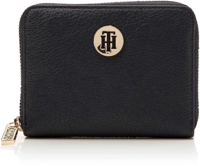 Tommy Hilfiger Damen TH Core Comp Za Wallet Geldbörse, 2x10x13 cm Blau Navy/Burgundy AW0AW05732