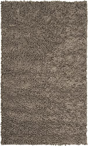 Surya Blossom BLO-1000 Shag Hand Woven 100 New Zealand Felted Wool Elephant Gray 2 x 3 Accent Rug