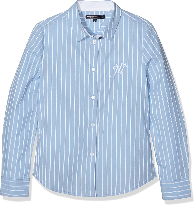 Tommy Hilfiger DG Rope Dobby Shirt L/S Blusa, Azul (7272-C ...
