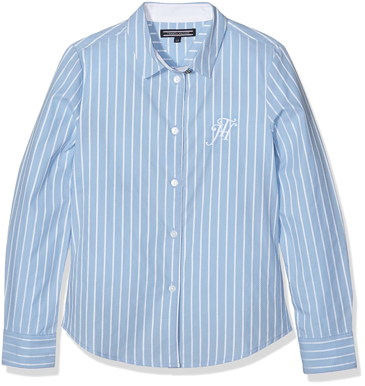 Tommy Hilfiger Mädchen Bluse Dg Rope Dobby Shirt L/s