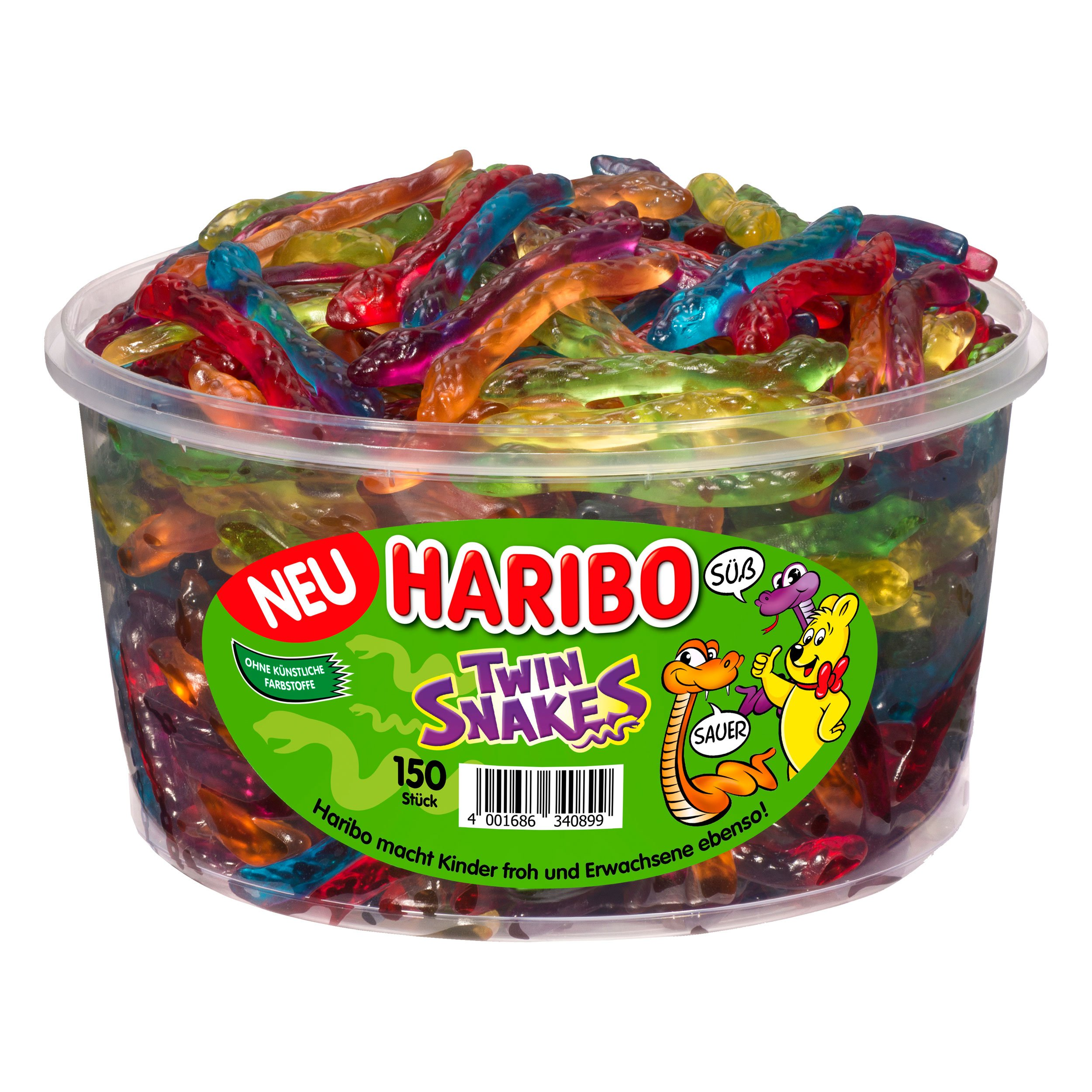 Haribo Twin Snakes 150 Pieces (1200g)