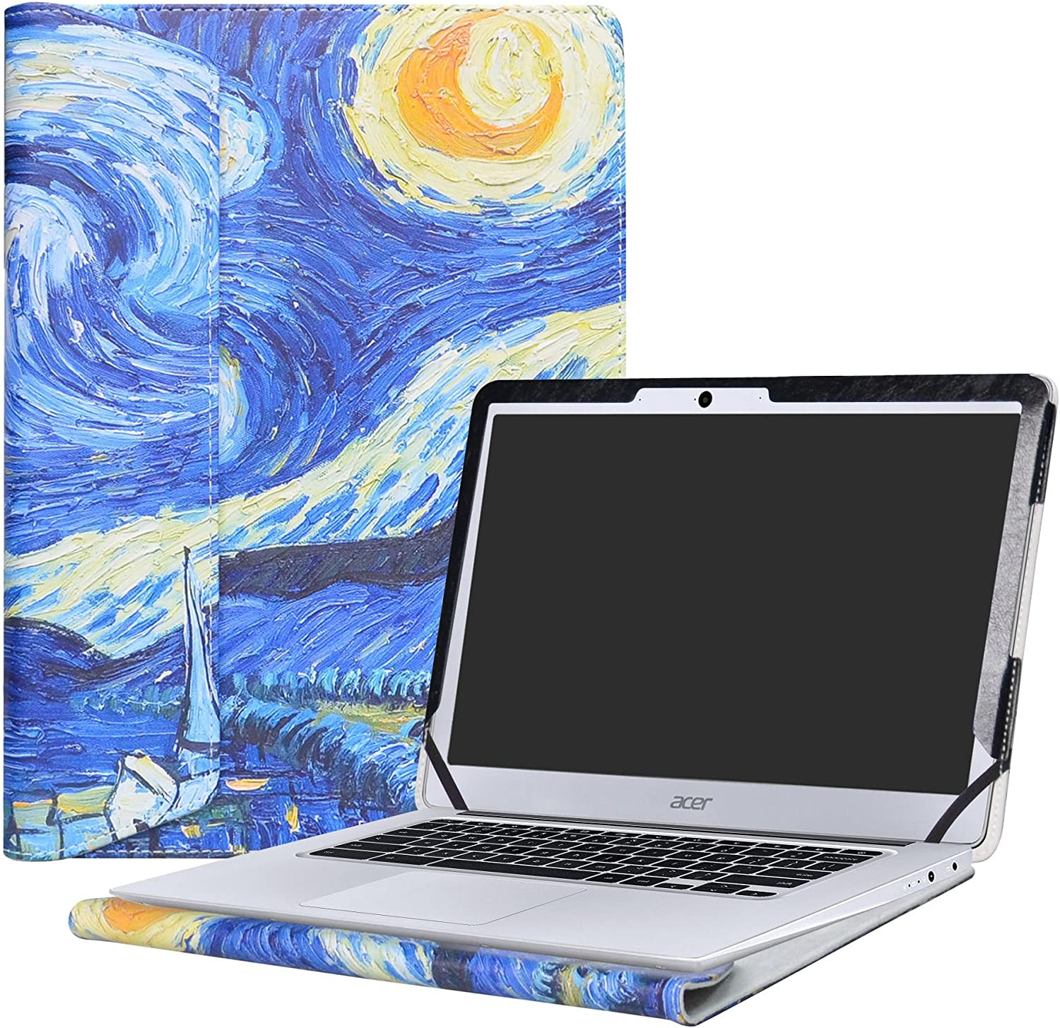 "Alapmk Protective Case Cover for 14"" Acer Chromebook 14 CB3-431 Series Laptop(Not fit ACER CHROMEBOOK 14 for Work CP5-471 Series),Starry Night"