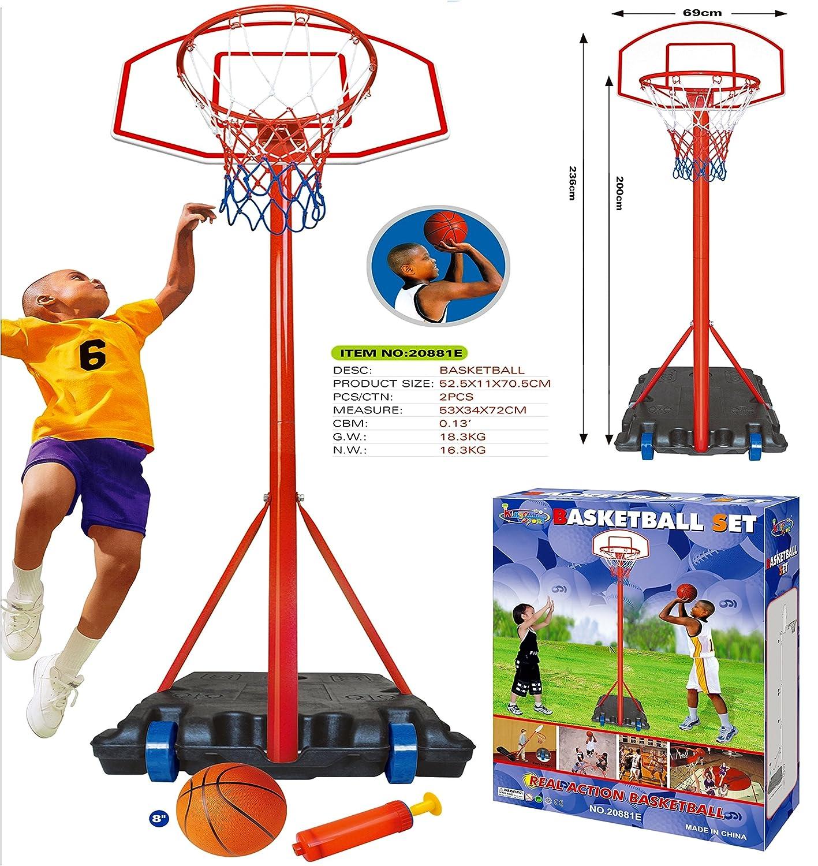 18 Professional Wall Mounted Indoor Basketball Hoop Ring and Backboard including Net Brick Wall